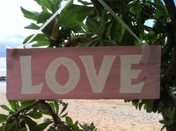 LOVE SIGN  Hand Painted by mauiloot on Etsy, $22.50
