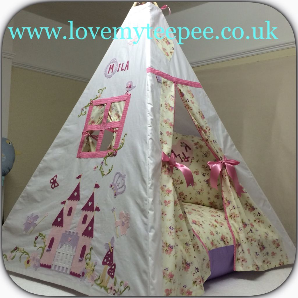 Love my teepee uku0027s leading handmade bespoke and personalised childrens teepee tents. Toys cushions play mats for boys and girls. & Pink Princess Castle Teepee Set Very girly floral fabric with a ...