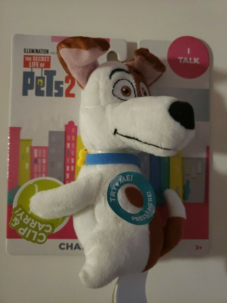 Secret Life Of Pets 2 Max Chat Hang Plush New 2019 Talking Clip Carry Secretlifeofpets2 In 2020 Secret Life Of Pets Dinosaur Stuffed Animal Secret Life