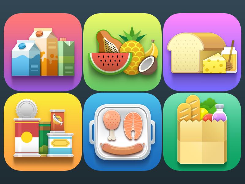 Free Grocery Icons Set Icon set, Icon design, Free groceries