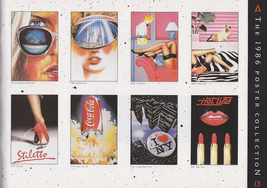 1986 Athena poster catalog, page 3 of Syd Brak