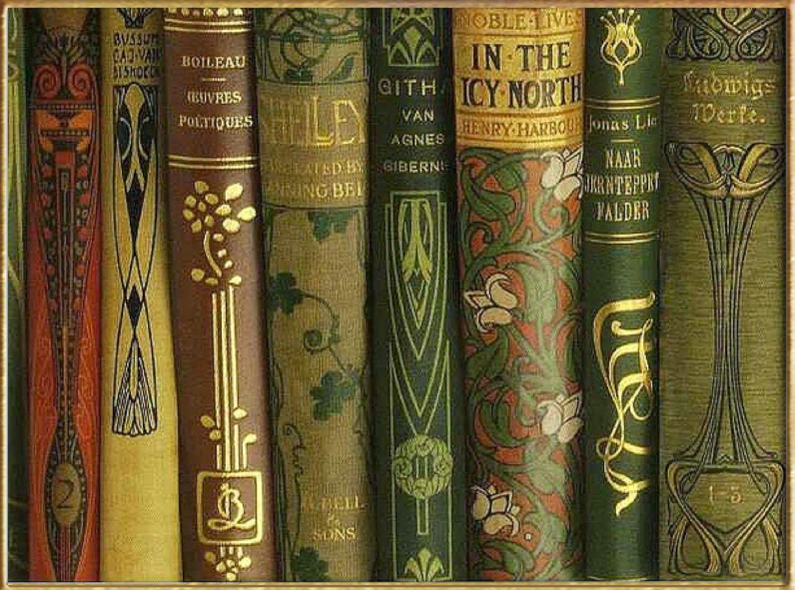 Art Nouveau Book Spines Vintage Books Book Spine Book Art