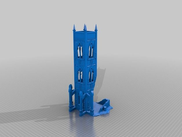 Warhammer 40k Terrain dice tower by bigunwhistle - Thingiverse | 3D