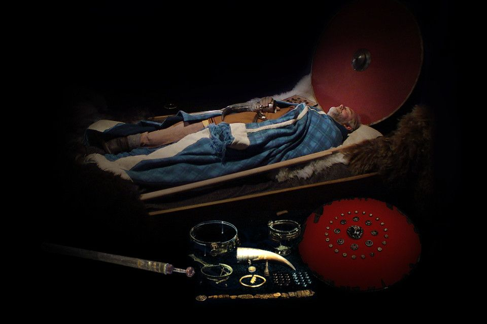 The Flag Mound Prince of Western Norway was buried in the 200's AD along with many Roman artifacts, including a Gladius short sword.
