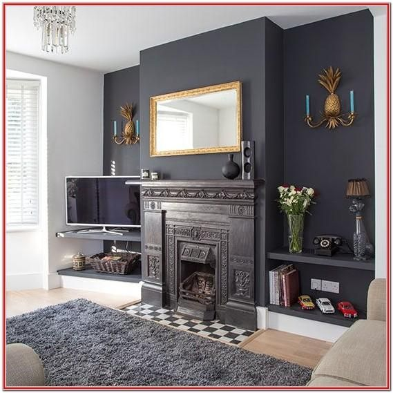 Dark Teak Living Room Ideas Uk Feature Wall Living Room Home Living Room Traditional Living Room