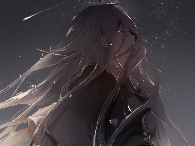 аниме картинки девушки плачущие