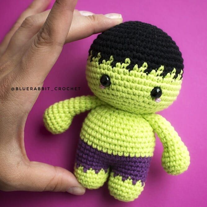Hulk English – Minasscraft Patrones Amigurumis | 667x667