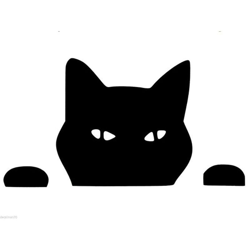 Lengthcm X Peeking Cat Funny Car Sticker For Cars Door Side - Vinyl decal cat pinterest