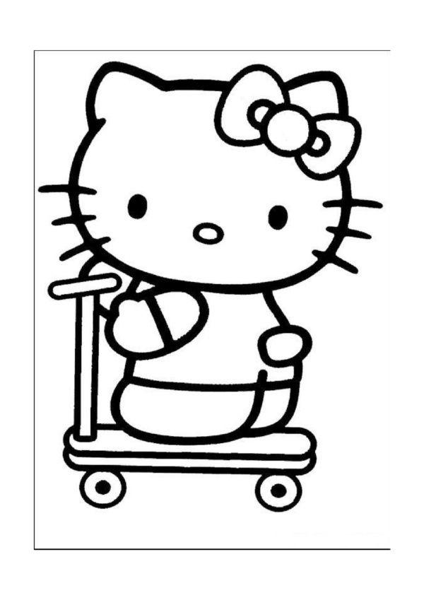 hello kitty 16 ausmalbilder für kinder. malvorlagen zum