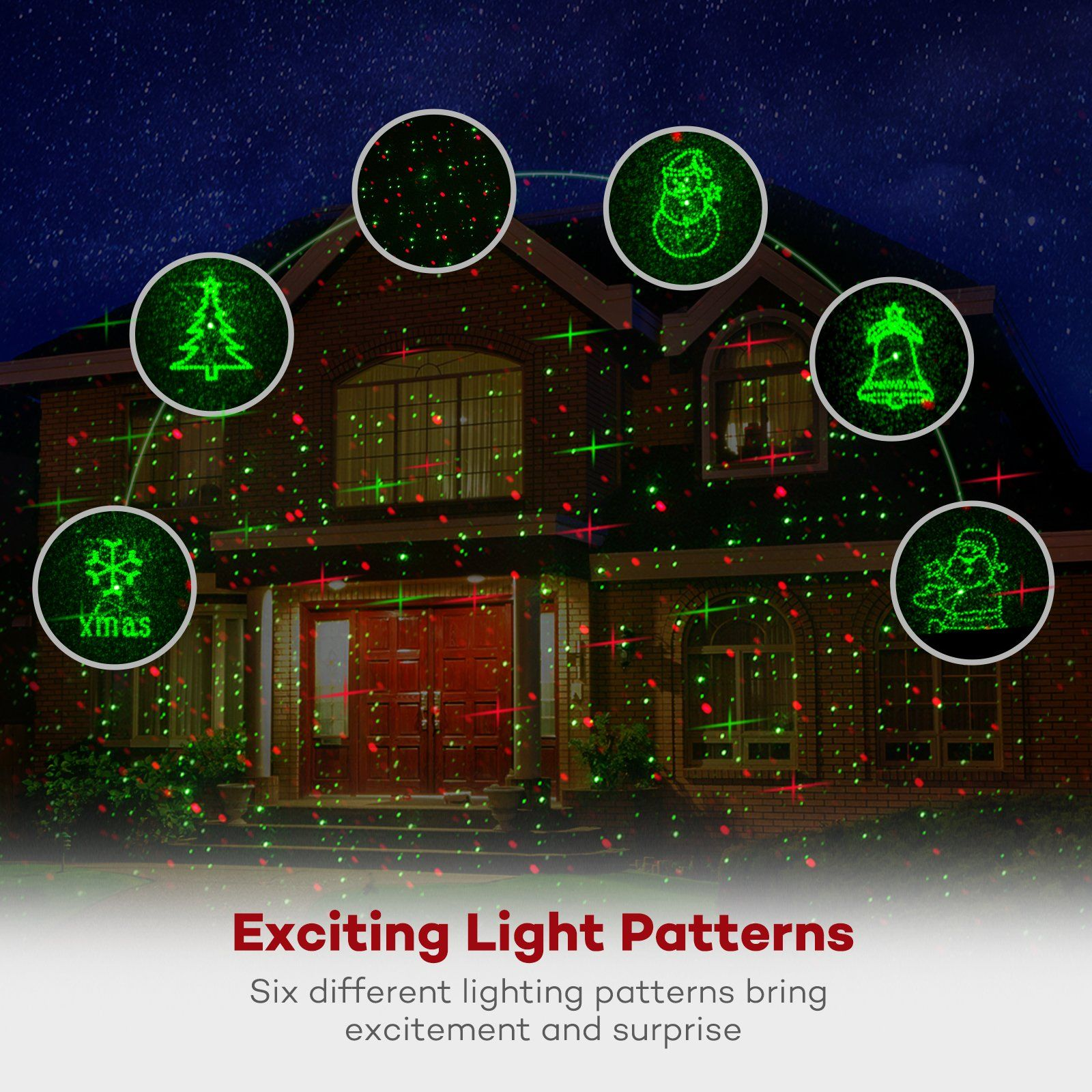Christmas Laser Lights TaoTronics Outdoor Light Projector