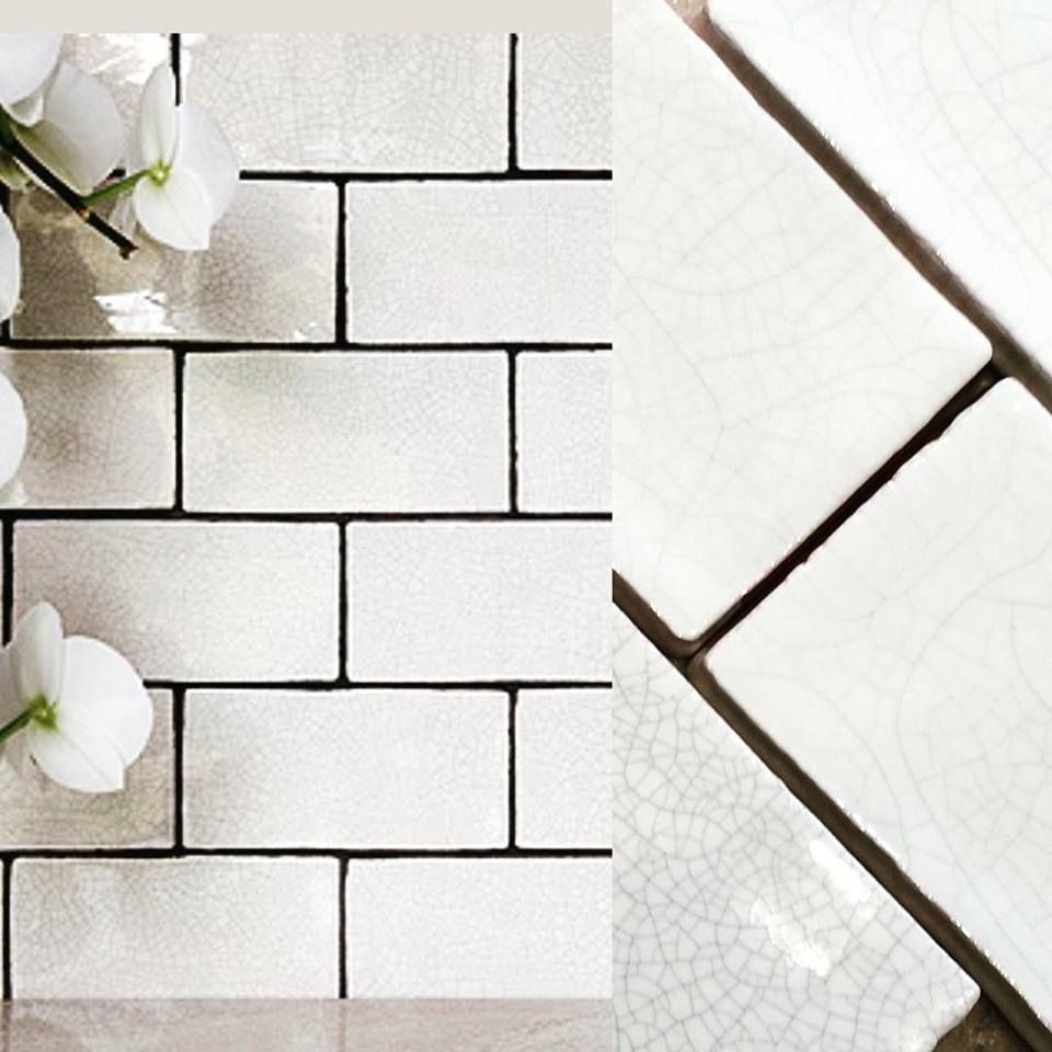Aged Crackle Glaze Tiles In White Make A Stunning Feature In Any Kitchen From Our Marlborough Collection F Crackle Glaze Tiles Floor And Wall Tile Tile Work