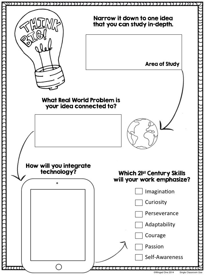 independent study planning pages school genius hour pinterest