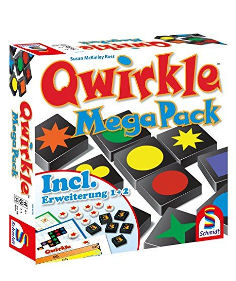 Schmidt Spiele 49309 Legespiel Qwirkle Mega Pack Bunt Schmidt Spiele Familienspiele Spiele