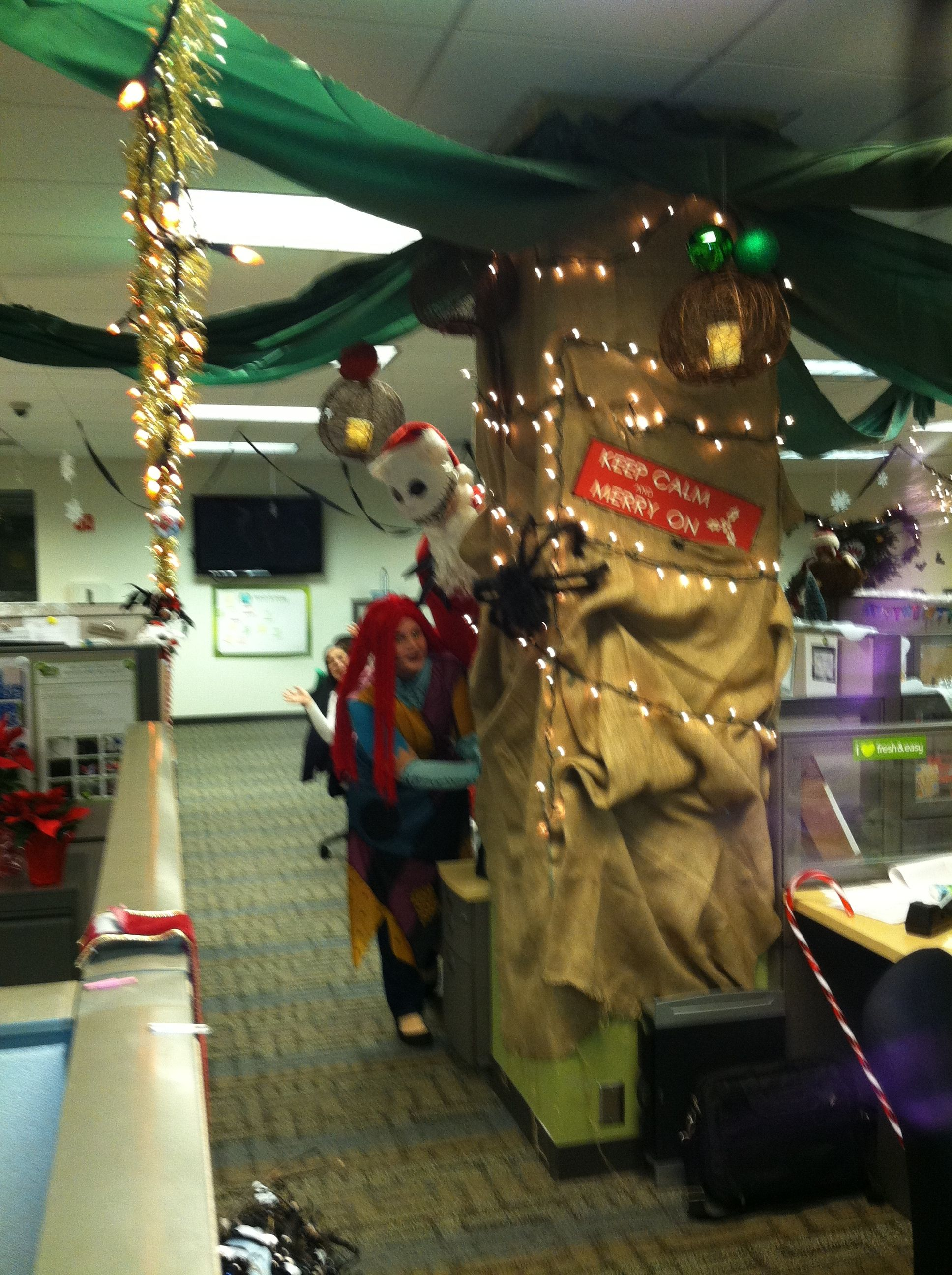 decorating our area for the nightmare before christmas theme key have costumes get your dept to dress up