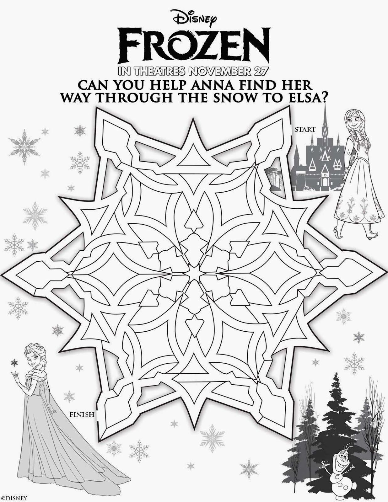 Libro De Actividades De Frozen Para Imprimir Gratis Con