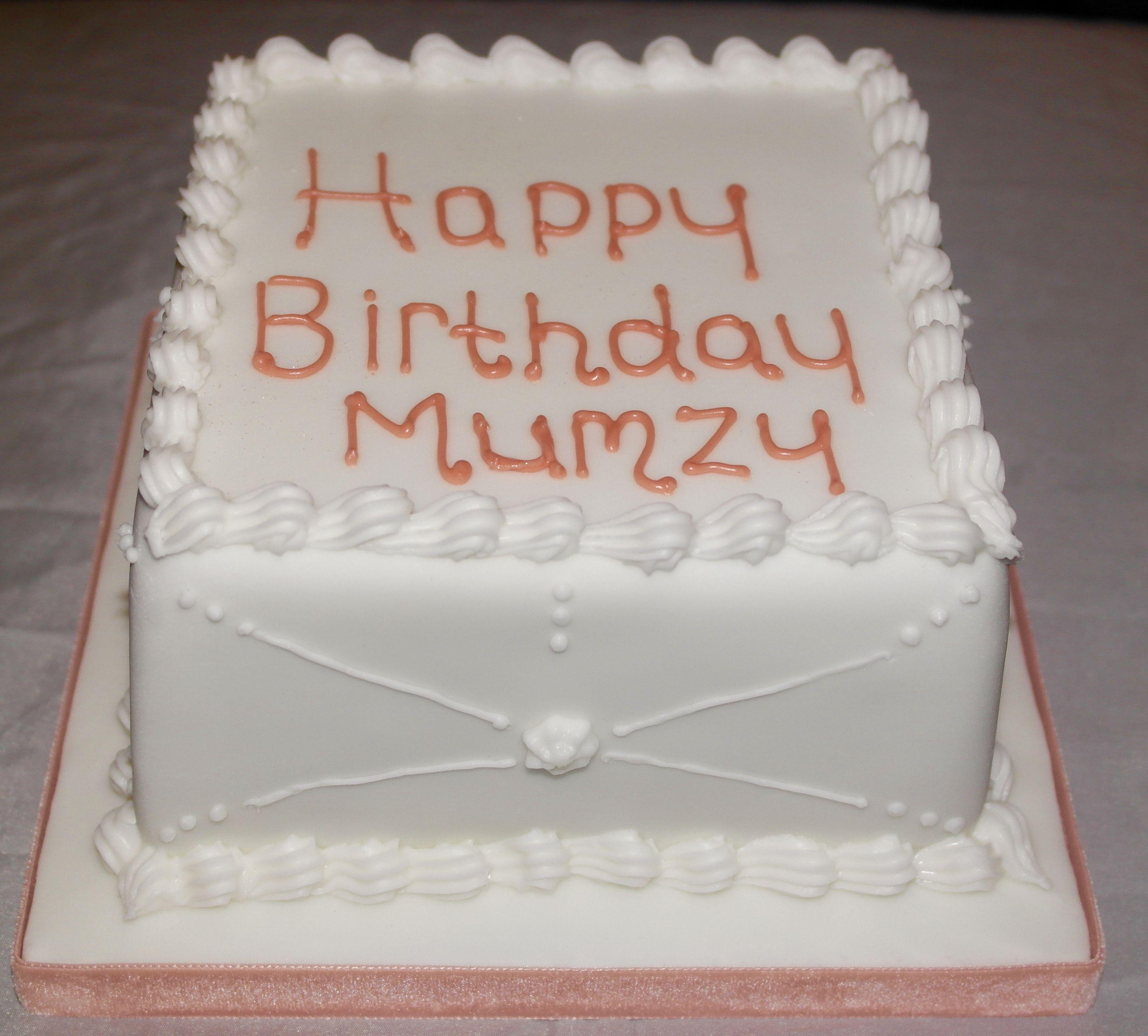 Birthday Cake For Mum Rum Cake With Royal Icing Finish Zainny