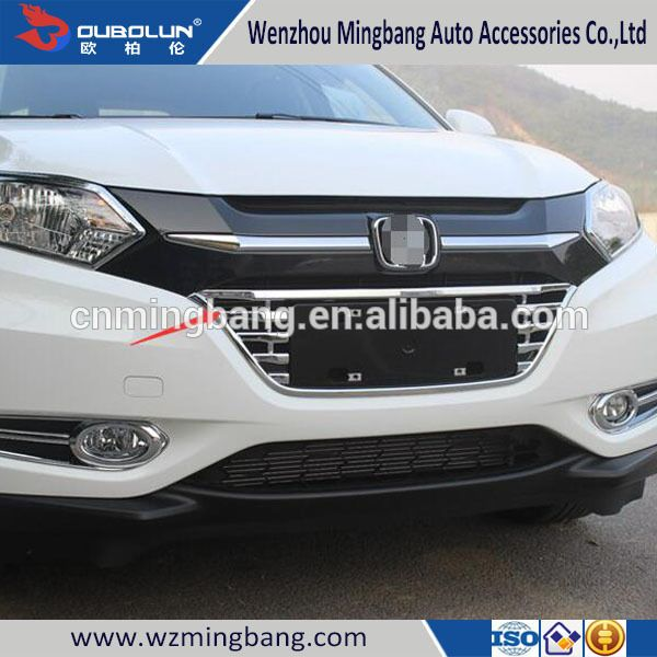 Car Exterior Parts Front Bumper Grille Trims Cover For Honda Vezel