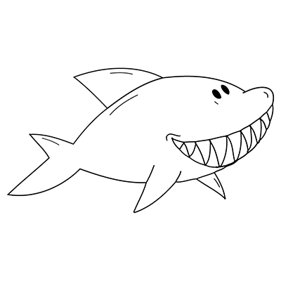 Shark Drawing Template | Go Back > Gallery For > Shark Template ...