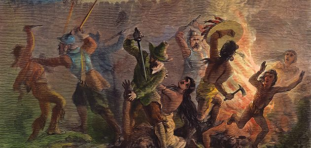 'the shocking savagery of america's early history' - ron rosenbaum, 2013 [smithsonian book review article; 'bernard bailyn, one of our greatest historians, shines his light on the nation's dark ages']