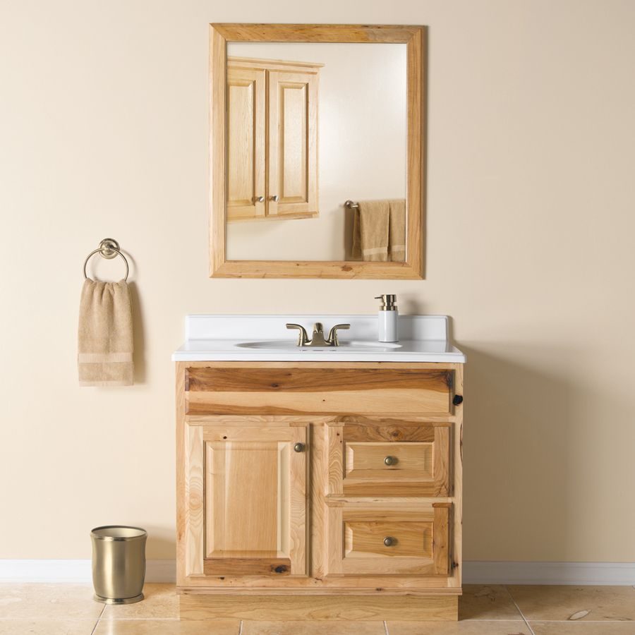 Shop Style Selections Cotton Creek Natural Traditional Hickory Bathroom V Bathroom Vanities Without Tops Traditional Bathroom Vanity Bathroom Vanities For Sale