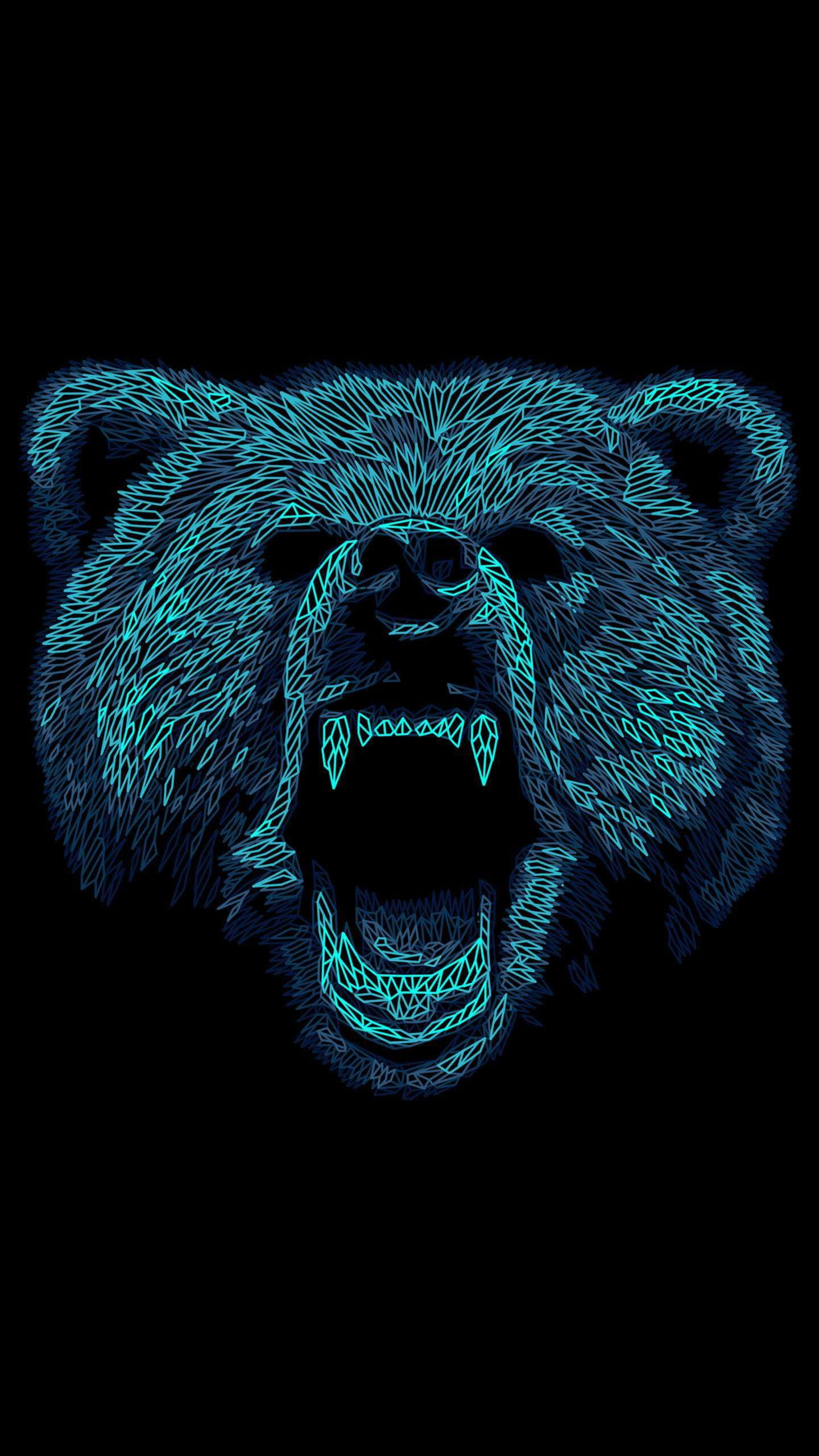 Angry Bear Art iPhone Wallpaper Bear art, Android