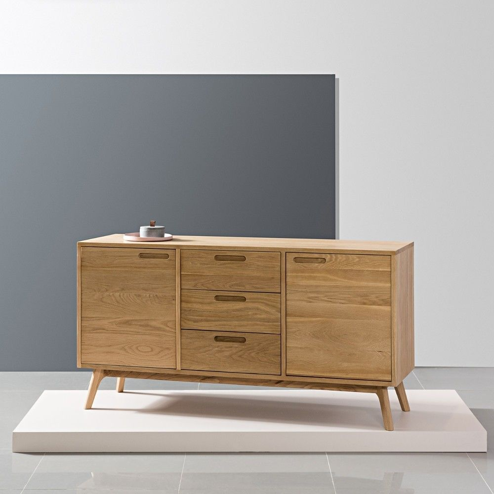 Maximus Sideboard Solid Oak 150x45x80cm Angled Legs Buy Now Scandinavian Living Room Furniture Oak Furniture Living Room Living Room Furniture Online
