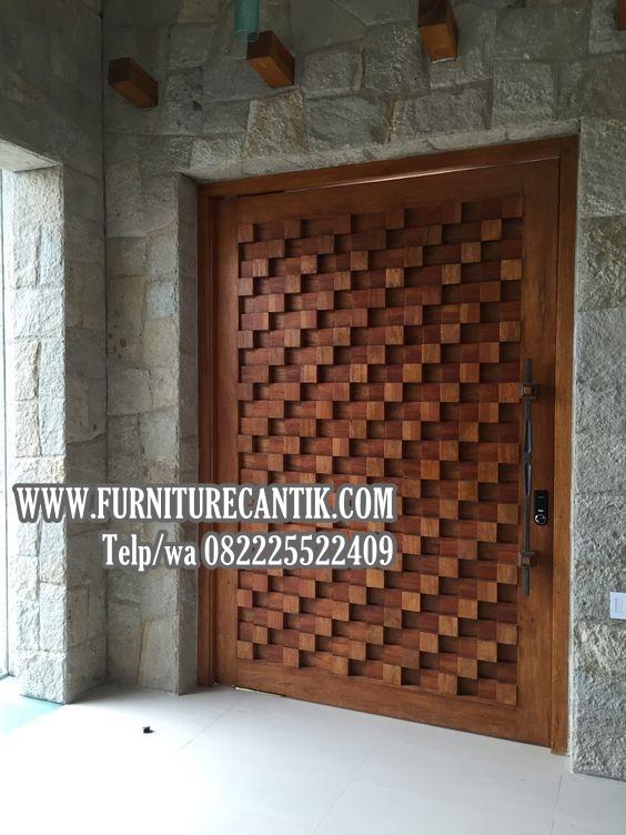 Pintu Kamar Rumah Mewah Jati Toko Furniture Cantik