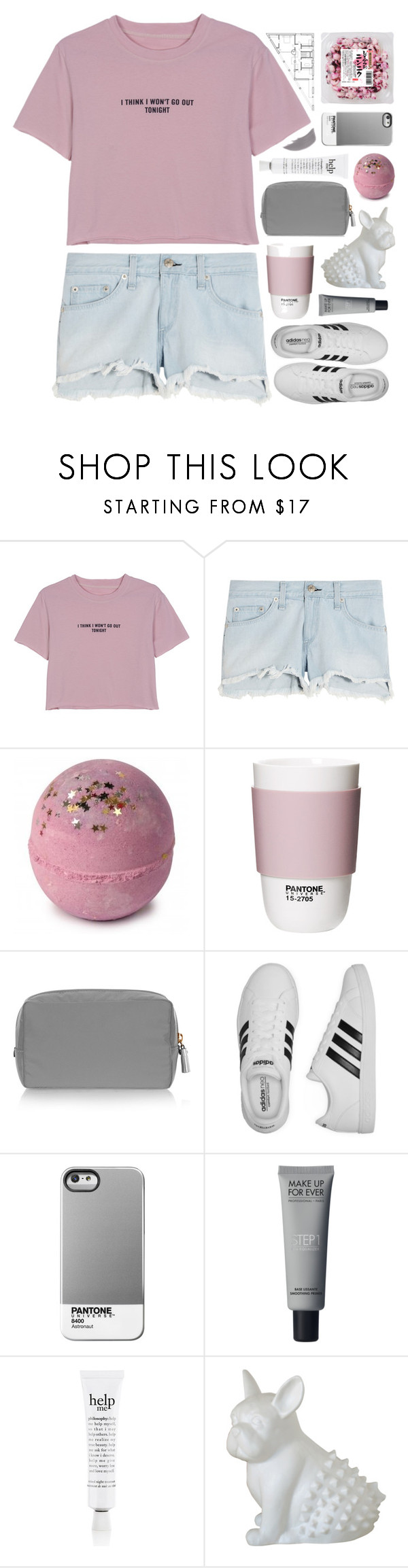 """☽✧ but my taste in music is your face"" by blonde-scorpio-xo ❤ liked on Polyvore featuring WithChic, rag & bone, ROOM COPENHAGEN, Anya Hindmarch, adidas, Case Scenario, philosophy, Imm Living and Jane Iredale"