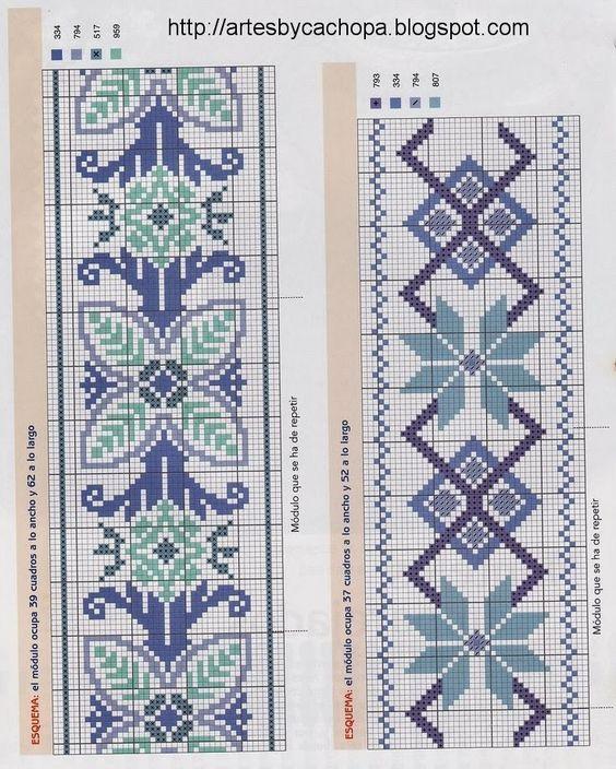 Resultado de imagem para grafico ponto cruz toalha banho abstrato dia das maes