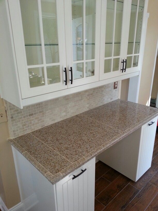 Ikea Cabinets Granite Tiled Countertop Stone Backsplash Green Kitchen Decor Granite Tile Countertops Diy Kitchen Cabinets Makeover