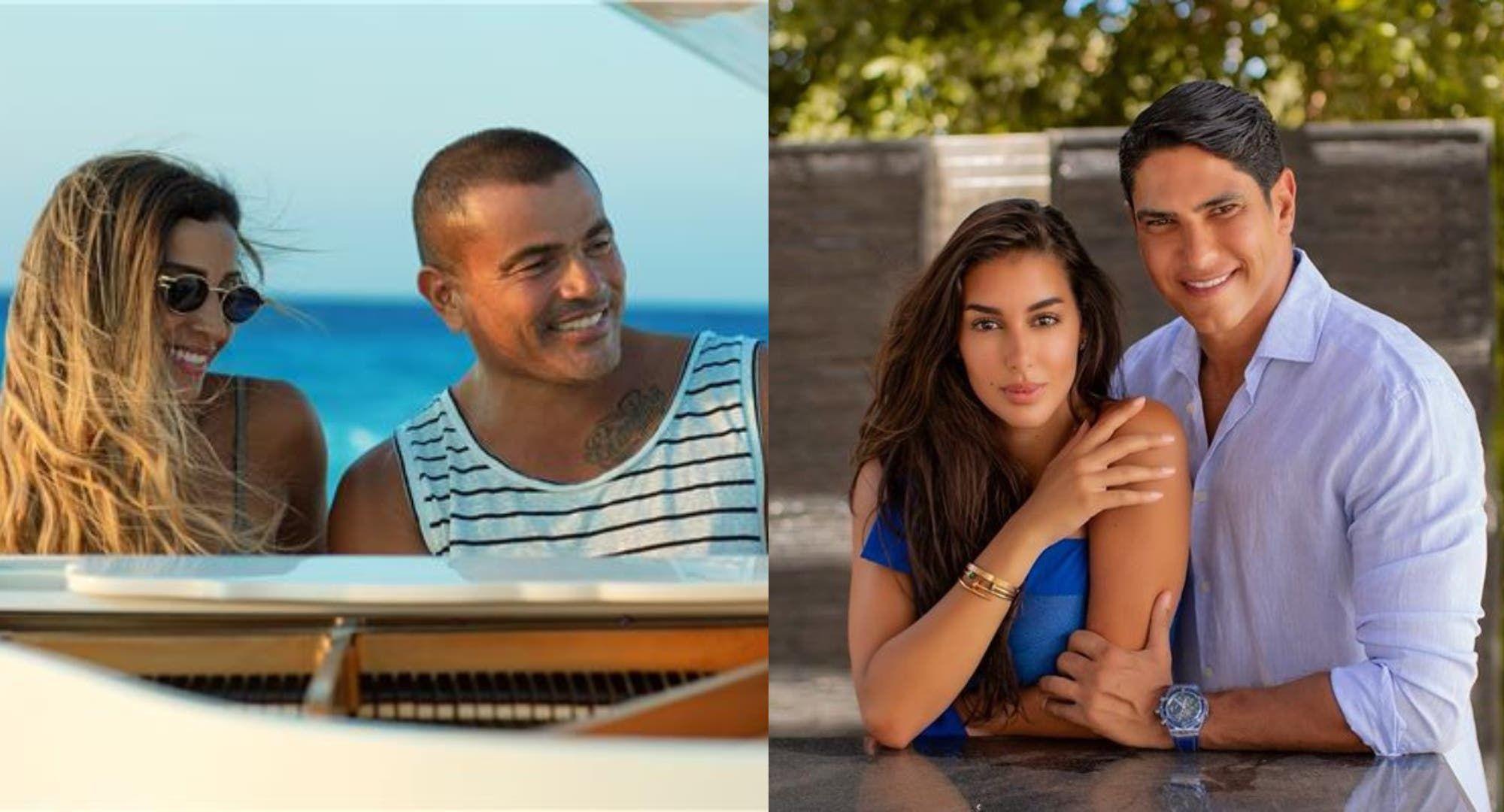 ياسمين صبري ودينا الشربيني تسببان خلاف بين عمرو دياب وأحمد أبو هشيمة ما القصة Couple Photos Scenes Photo