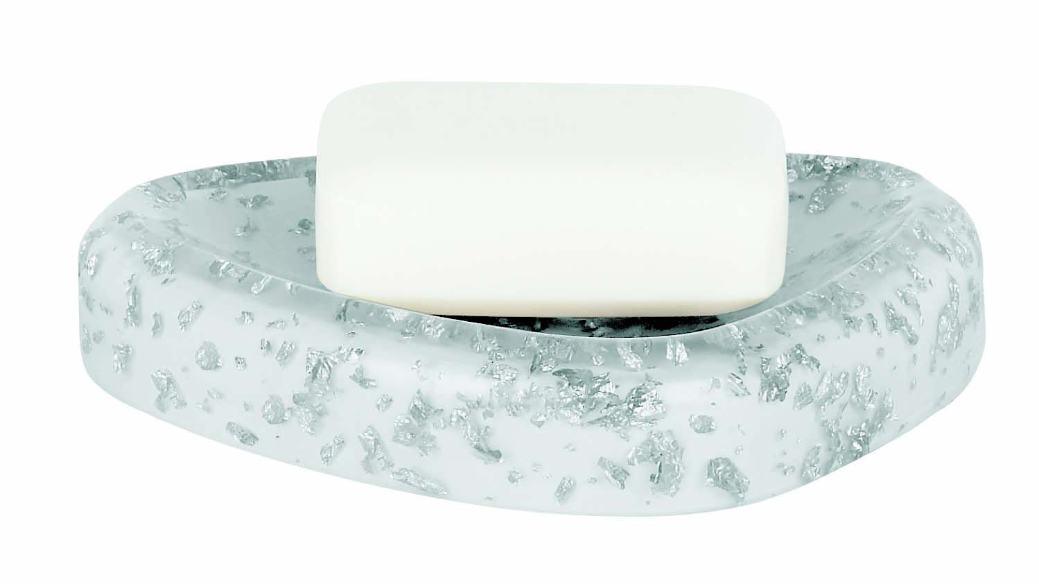Spirella Etna Glitter White Soap Dish | Beautiful Bathrooms ...