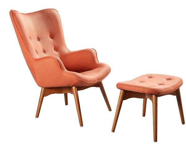 Modern Armchair Chair W Footstool Ottoman Free Shipping