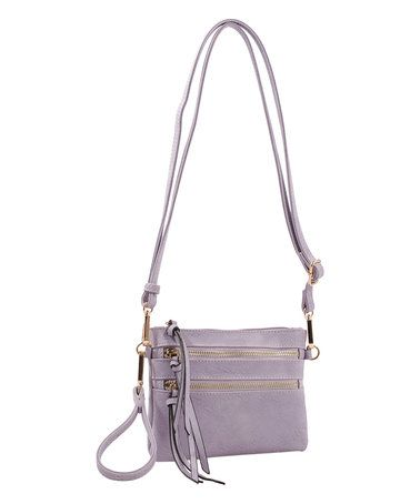 This Lavender Camelia Crossbody Bag is perfect! #zulilyfinds