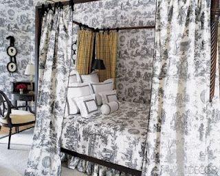 Toile interior by decorator Alessandra Branca.