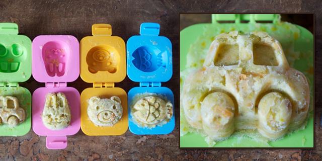 Des petits palets de l gumes r alis s avec des moules oeuf comment faire manger des - Recette legume pour enfant ...