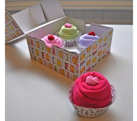 Precioso Regalo Para Bebés Guía De Manualidades Baby Diy Regalos Para Bebé Cajas Para Cupcakes