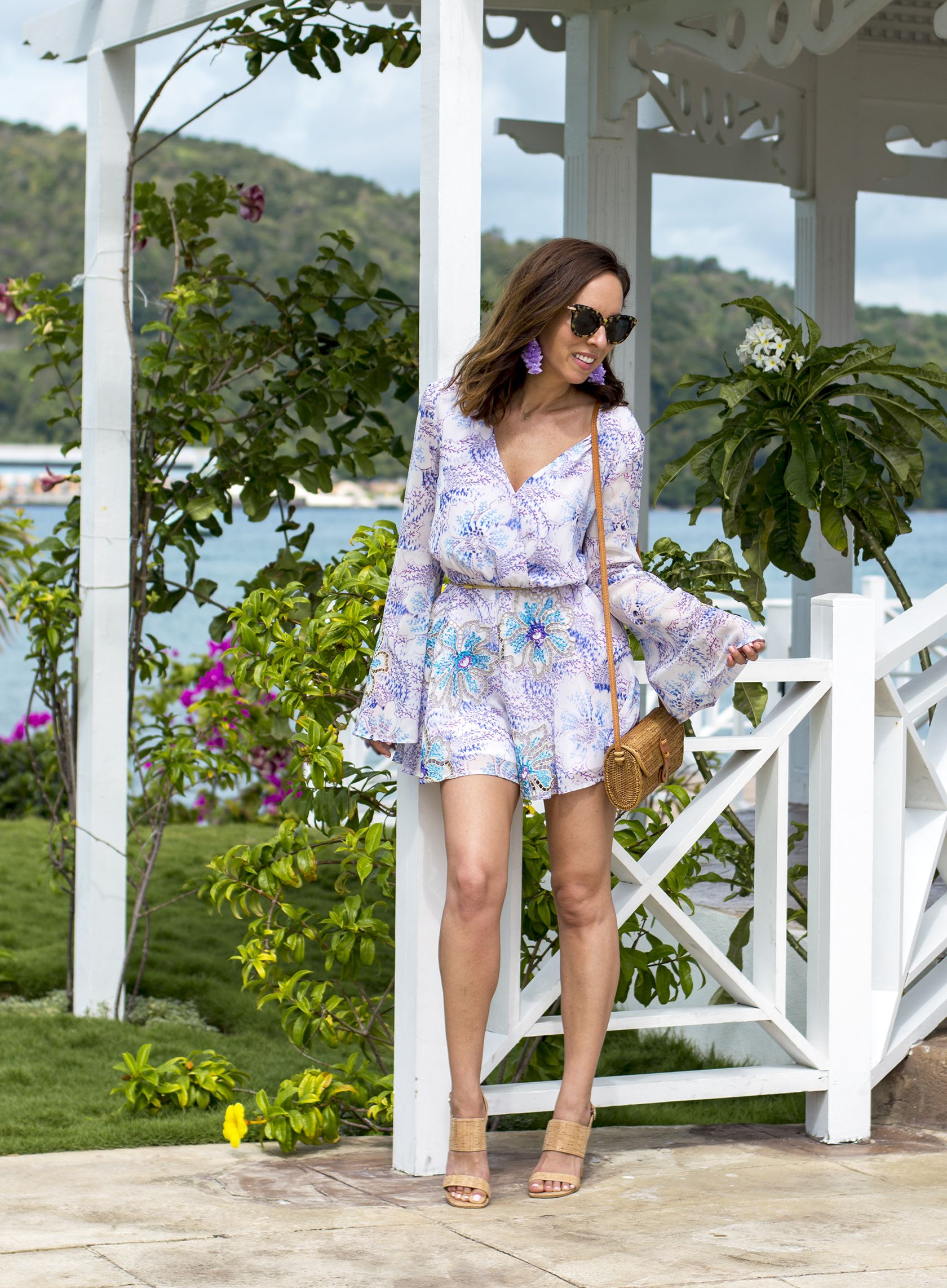 Sydne Style Reviews Moon Palace Jamaica For All Inclusive Hotels In Ocho Rios Rompers Florals Jama Fashion Los Angeles Fashion Blogger Spring Summer Fashion