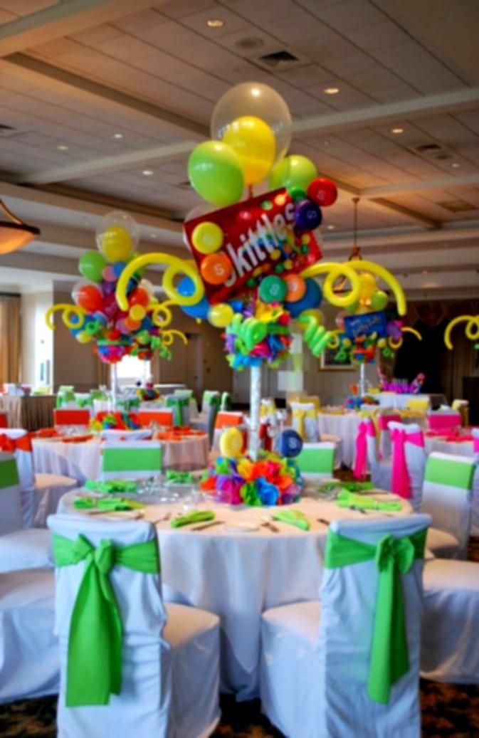 Candy Themed Bat Mitzvah Event Decor Adult Centerpieces Party
