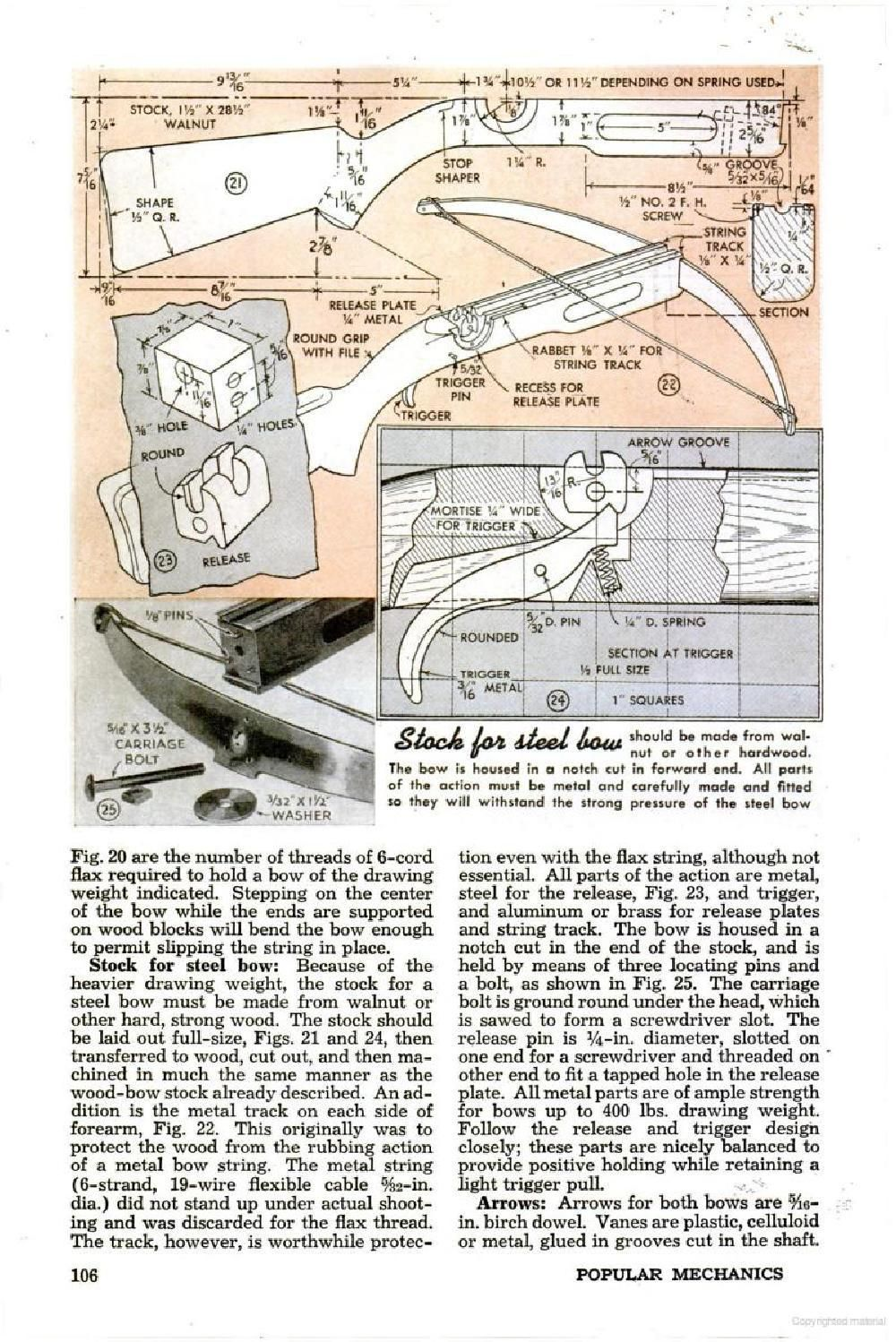 Build A Metal Crossbow Using A Leaf Spring Plans