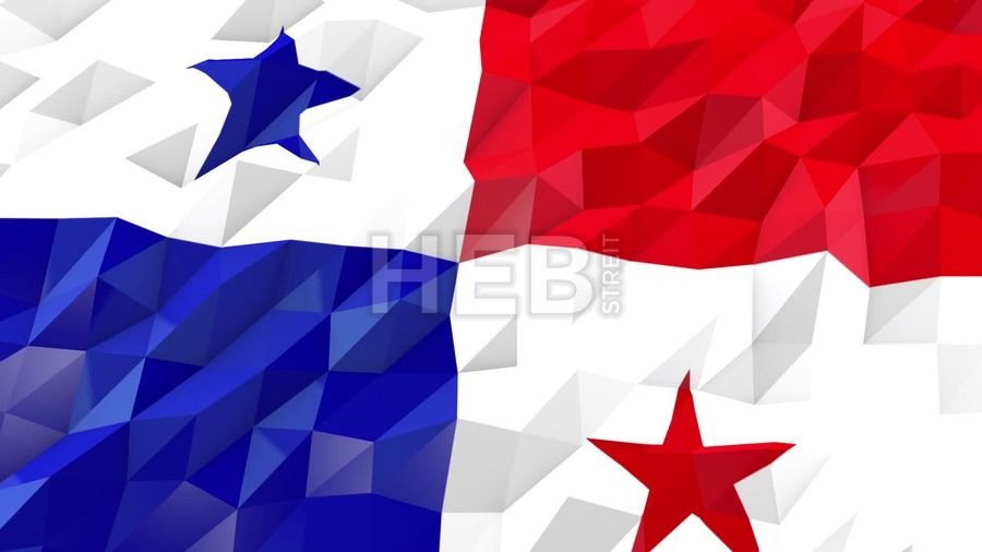 Stock Footage in HD from $19, Flag of Panama 3D Wallpaper Animation, National Symbol