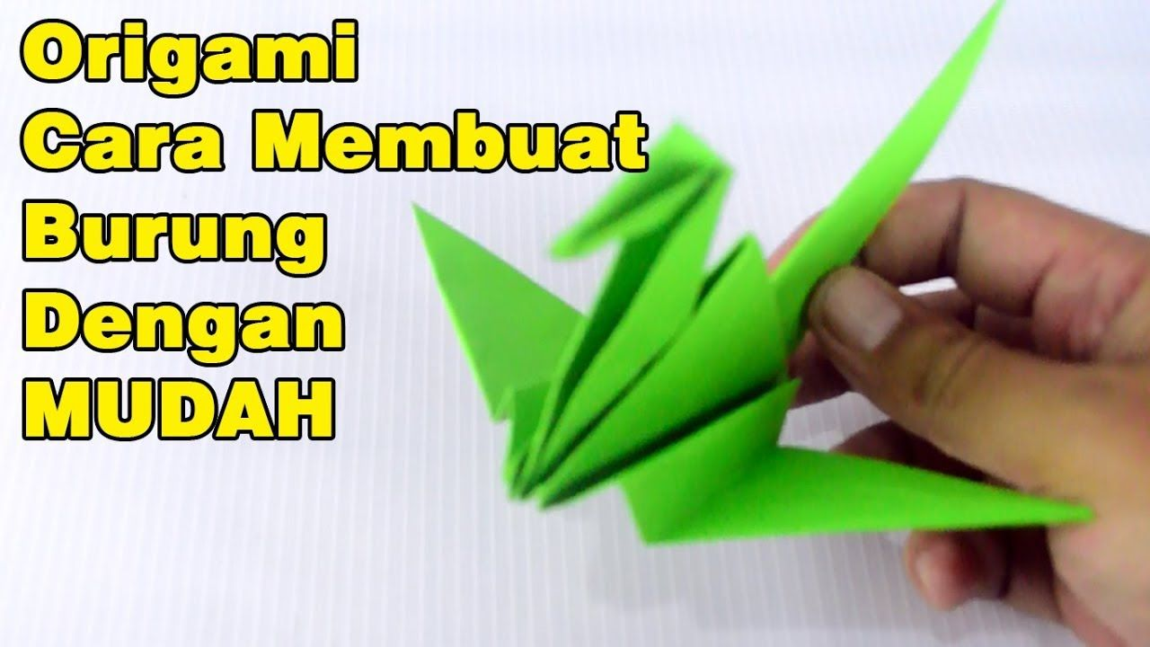 Origami Burung Mudah Origami Origami Paper Origami Bird