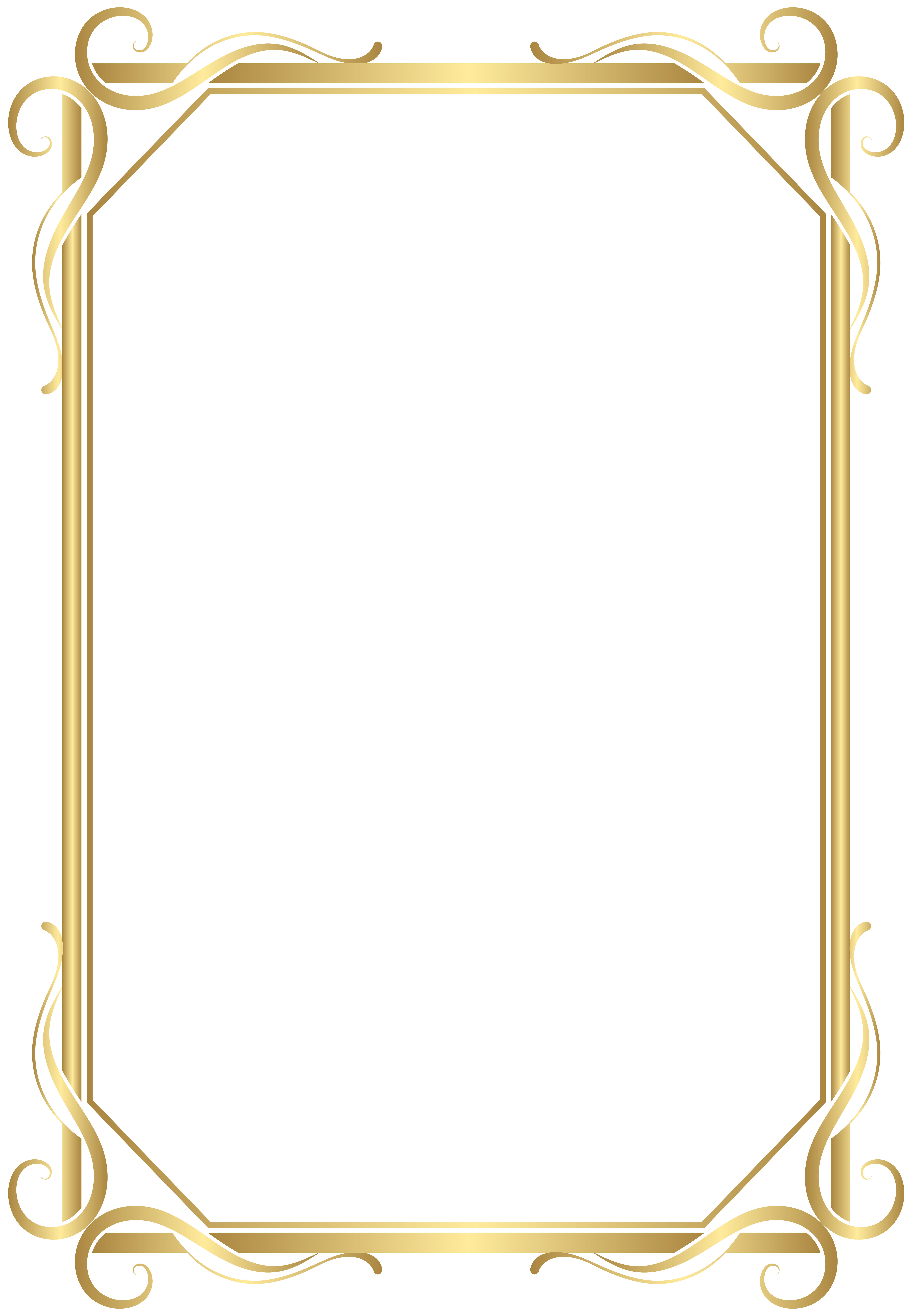 Frame Border Transparent Png Gold Image Gallery Yopriceville High Quality Images And Transparent Clip Art Frames Borders Frame Clipart Frame Border Design
