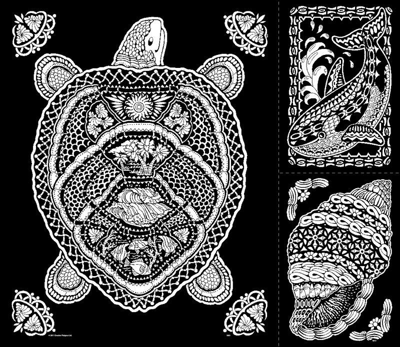 fuzzy posters for adults geometric turtle fuzzy velvet poster - Velvet Coloring Book