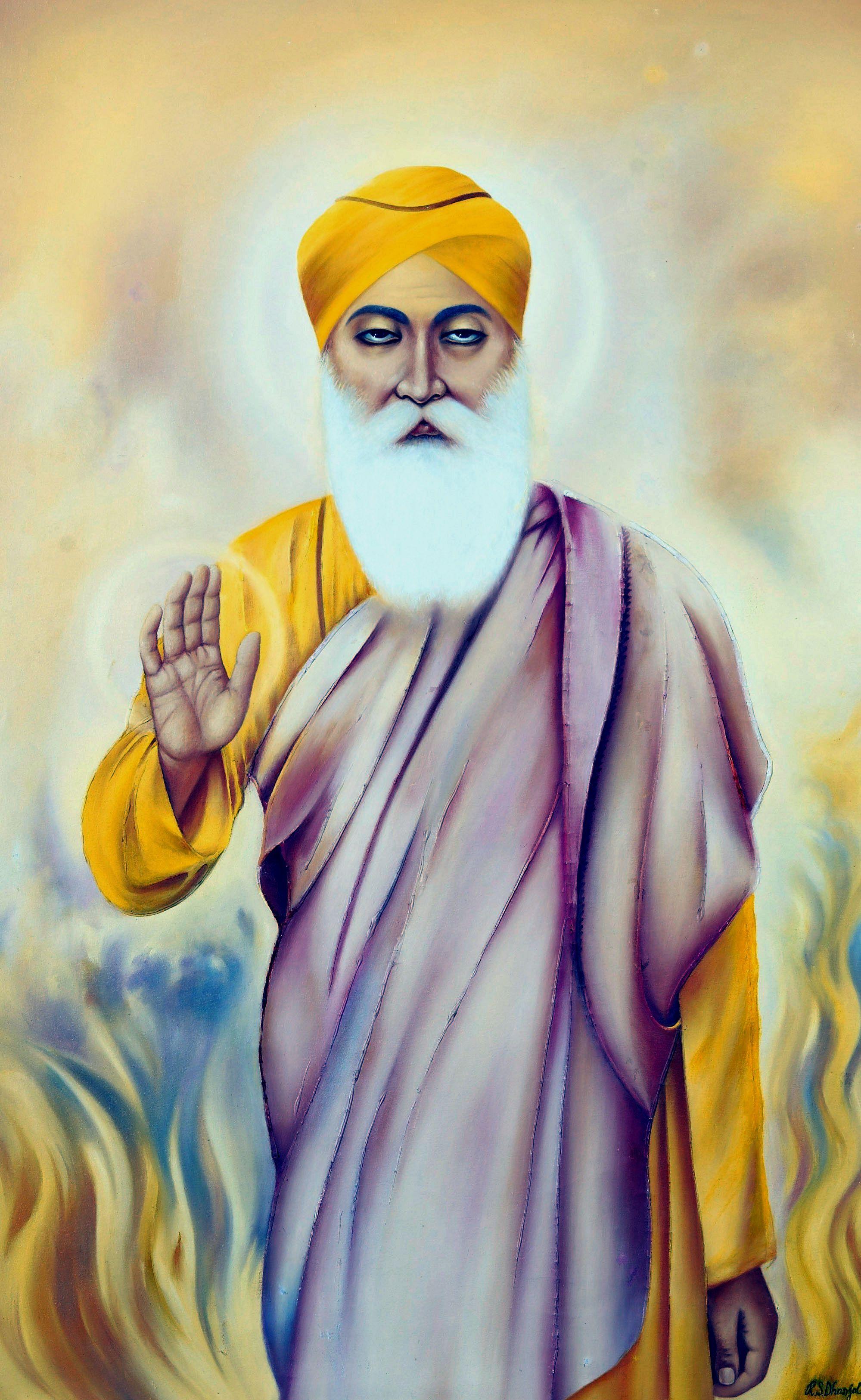 dhan dhan sri guru nanak dev ji sahib guru nanak pinterest