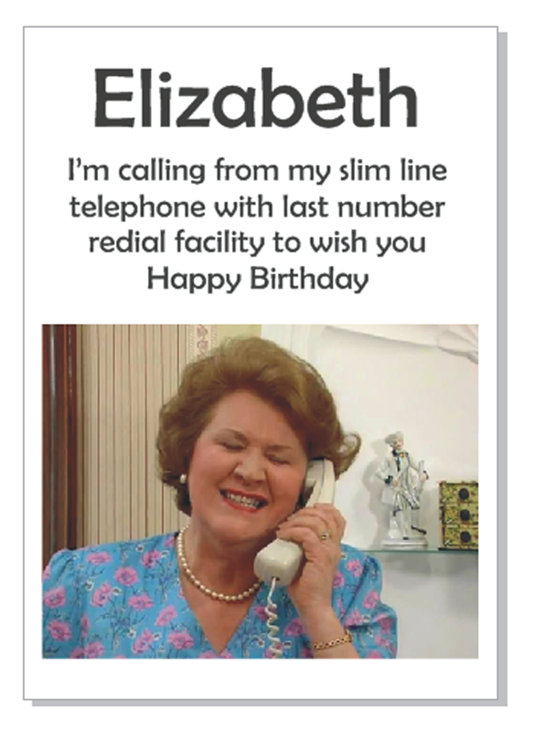 Hyacinth Bucket Birthday Card Pics Pinterest Keeping Up
