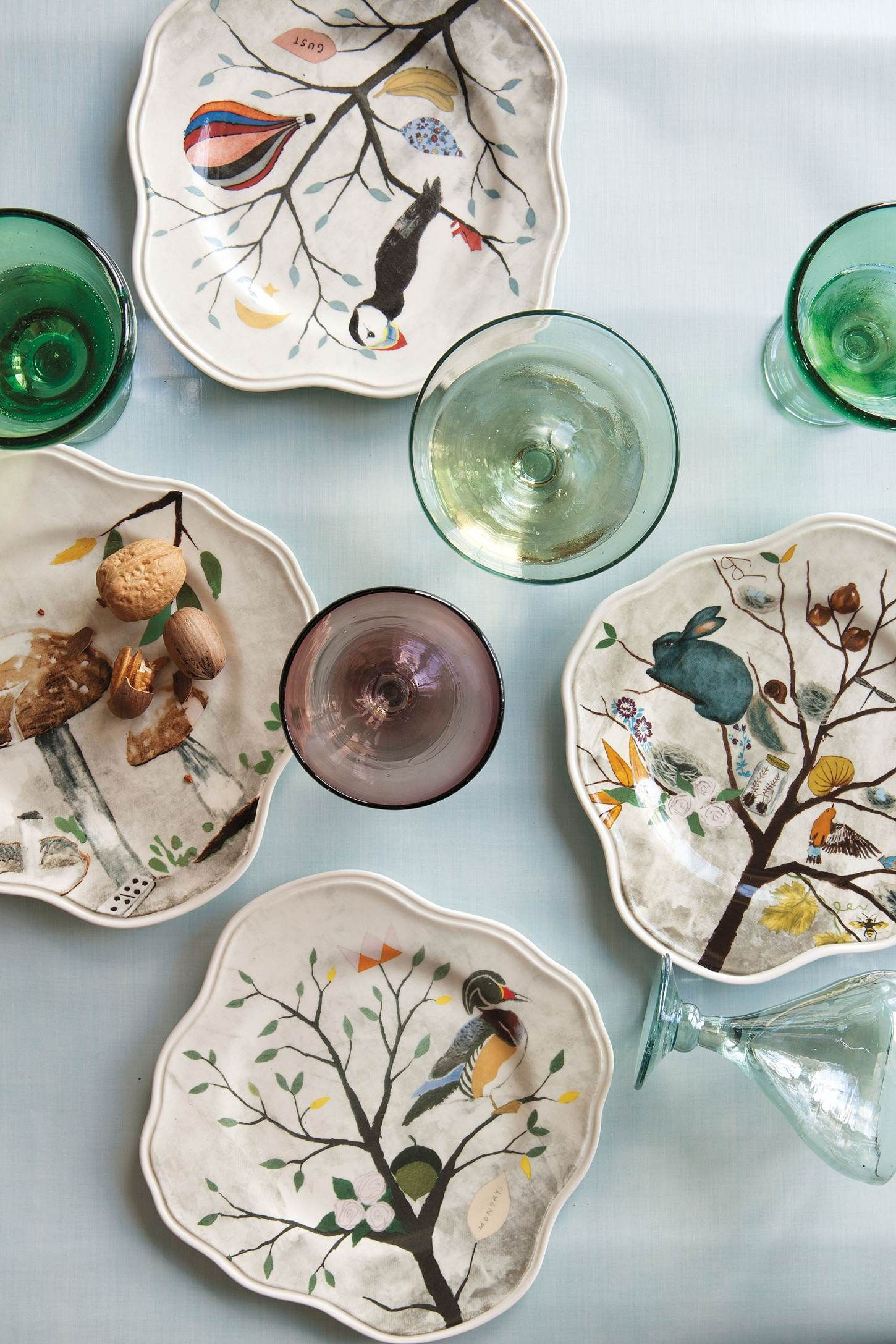 Curious Deciduous salad plates by Rebecca Rebouche anthropologie & Curious Deciduous Dinnerware inspiration: Rebecca Reboucheu0027s Flutter ...