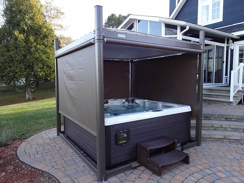 Beautiful Install, open with sides down! | Covana Hot Tub ...
