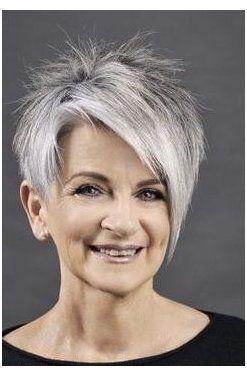 funky short grey hair
