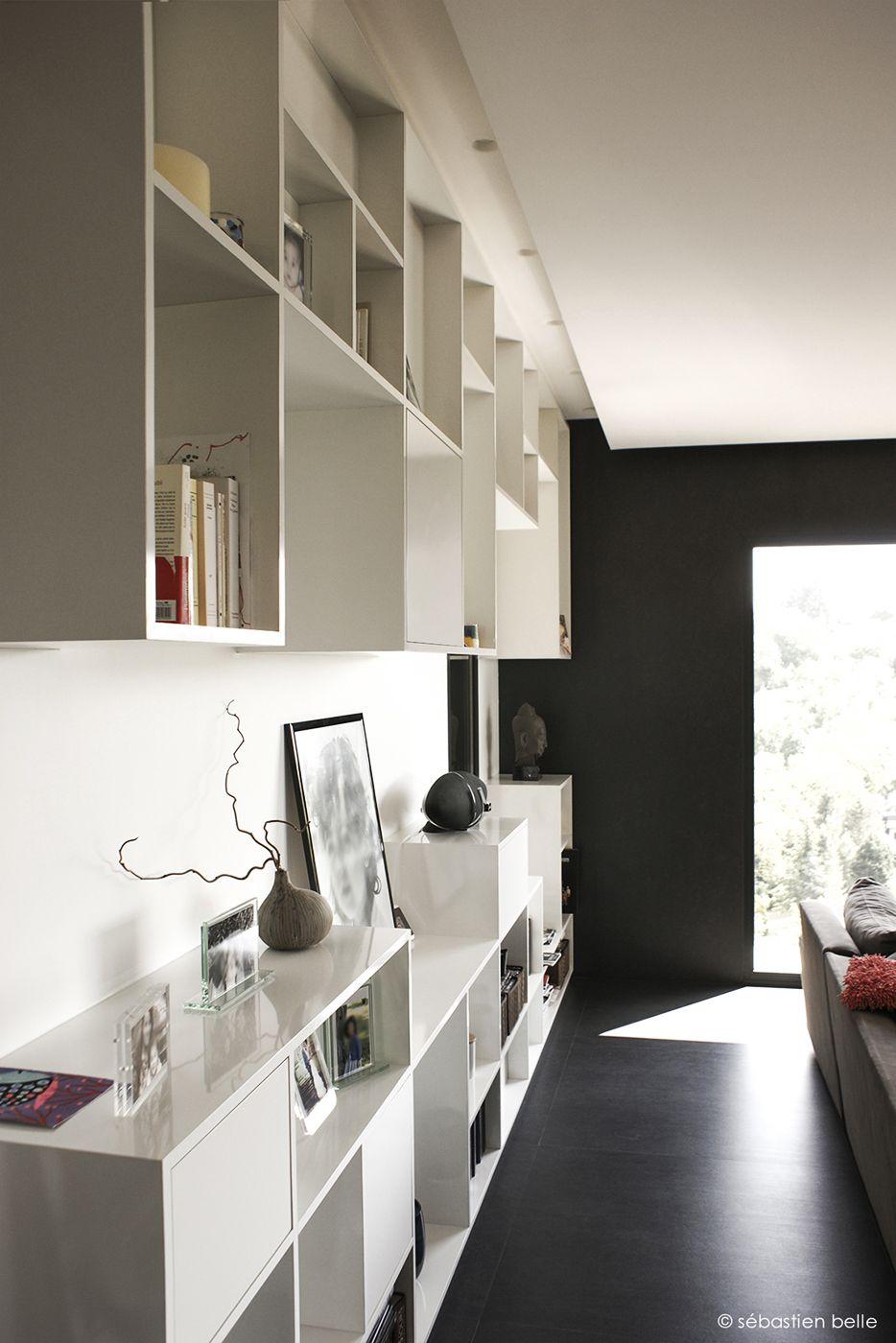 Relooking Complet D Une Maison Pr S De Lyon Deco Design  # Meuble Bibliotheque Design Contemporain